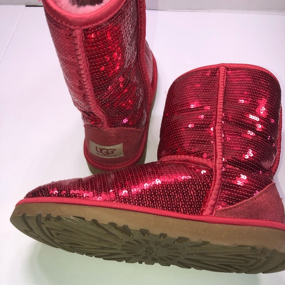 623045551a5 Red sequin uggs size 7
